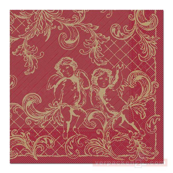 Servietten Tissue Xmas, 40x40 cm - 1/4 Falz, Gabriel - bordeaux