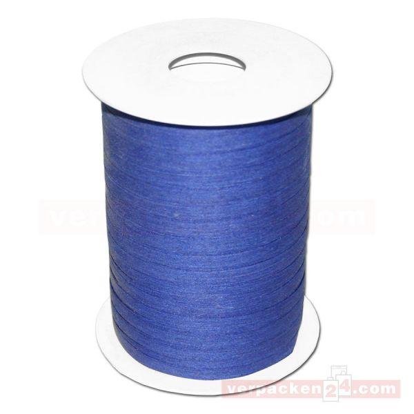 Baumwoll-Ringelband 5 mm, Rolle 200 mtr - dunkelblau (35)