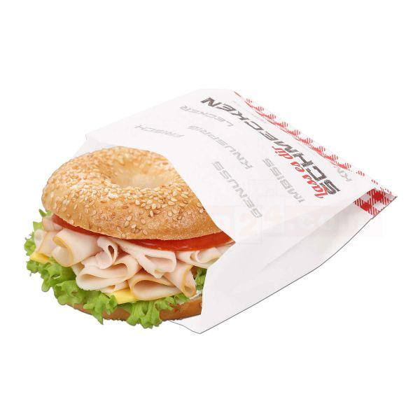 Snack - Snackbeutel - Lass es dir schmecken - 12+5x14 cm