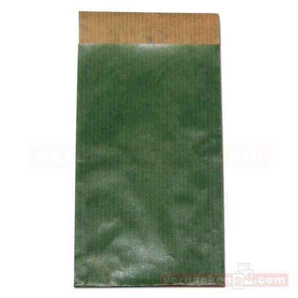 Flachbeutel (2N), Vollfläche uni dunkelgrün
