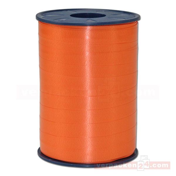Glanzband auf Rolle 250 mtr., 9 mm - orange (620)