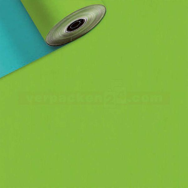 Geschenkpapier, neutral St 37010, Rolle 50 cm - türkis/hellgrün