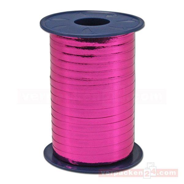 Glanzband metallisiert - 5 mm - Rolle 400 m - pink (606)