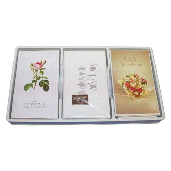 Glückwunschkarten, sortiert, Sortiment - Verlobung 6x10 St.