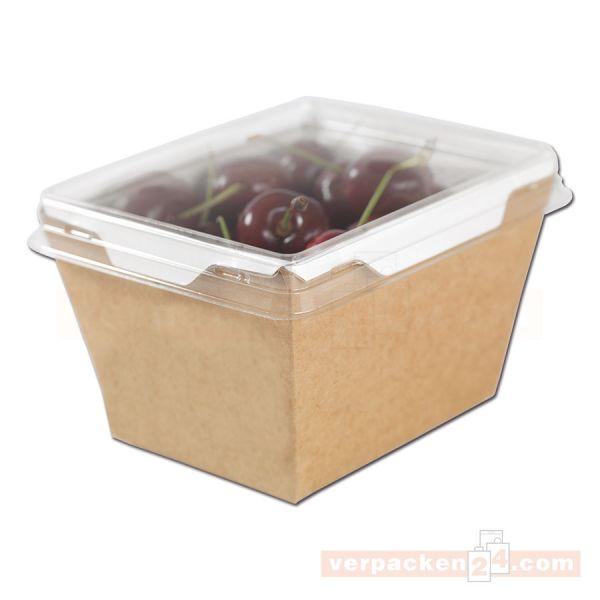 Menüboxen Liaison - braun - aus Hartpapier - 500ml (17oz)