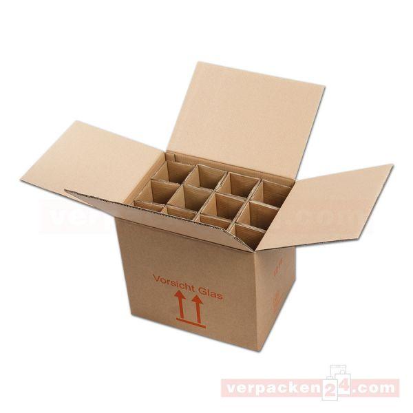 Flaschenversandkarton, 12 Flaschen - Versandverpackung PTZ