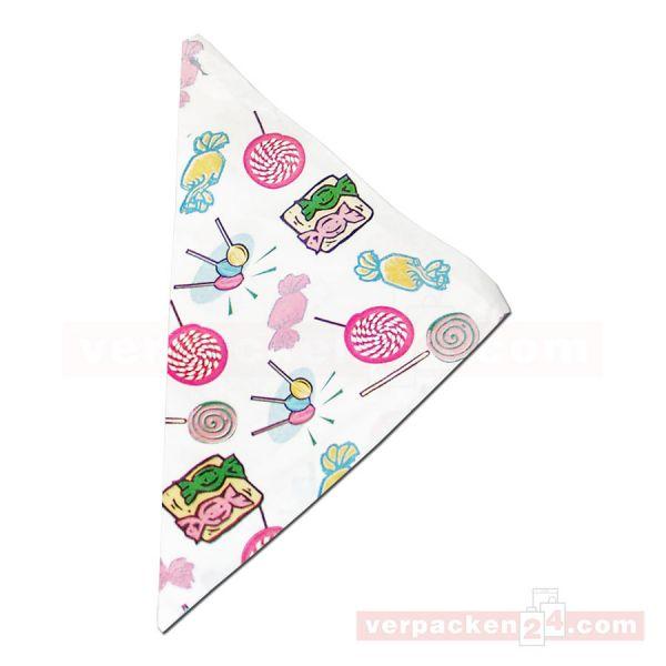 Spitztüten weiß, Kraftpapier - Motiv Süßigkeiten