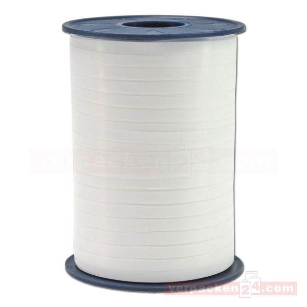 Glanzband auf Rolle 500 mtr., 5 mm - weiß (600)