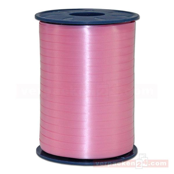 Glanzband auf Rolle 500 mtr., 5 mm - rosa (020)