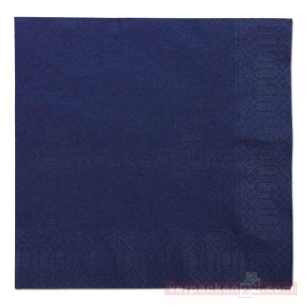 DUNI Zelltuch-Servietten, 3-lg, 1/4 Falz, 33x33cm - dunkelblau