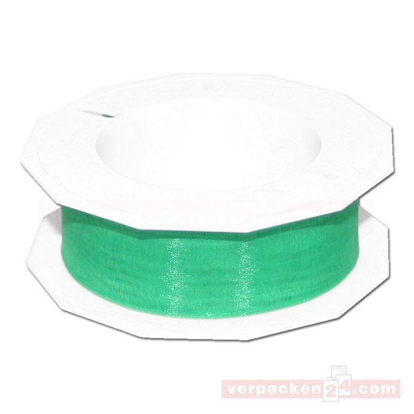 Schleifenband - Sheer - Rolle 25 m, 25 mm - grün