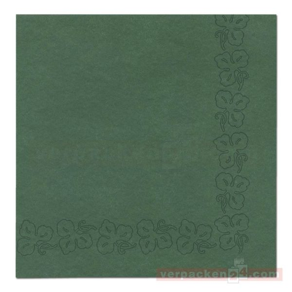 DUNI Dunicel-Servietten, Weinranke, 41x41cm - jägergrün