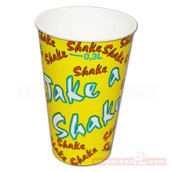 Milchshakebecher aus Hartpapier - Take a Shake - neutral