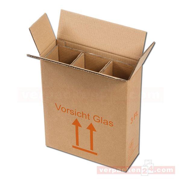 Flaschenversandkarton, 3 Flaschen - Versandverpackung PTZ