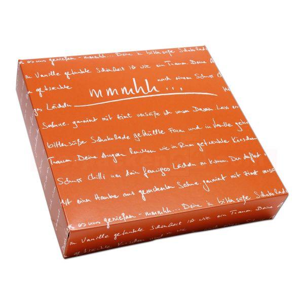 Tortenkarton, mit Deckel - mmmhh orange - 250x250x50mm