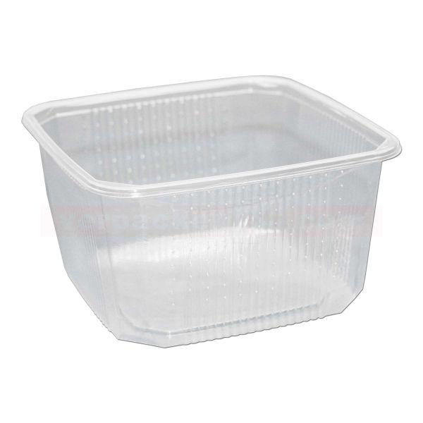 Heimchendose eckig - Becher - Polyethylen klar - 450ml - gelocht