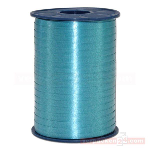 Glanzband auf Rolle 500 mtr., 5 mm - blaugrün (603)