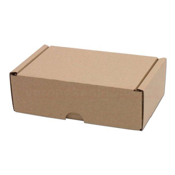 Klappschachteln mit Steckverschluss, braun - fefco 0427 - Versandbox