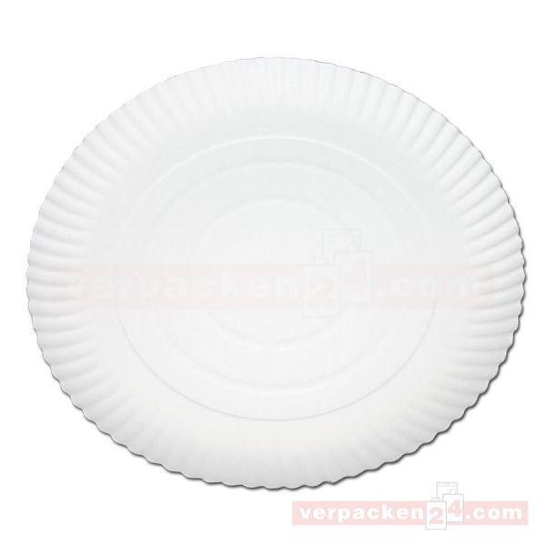 Pappteller, BIO, rund - 26 cm (d) - Pizzarand