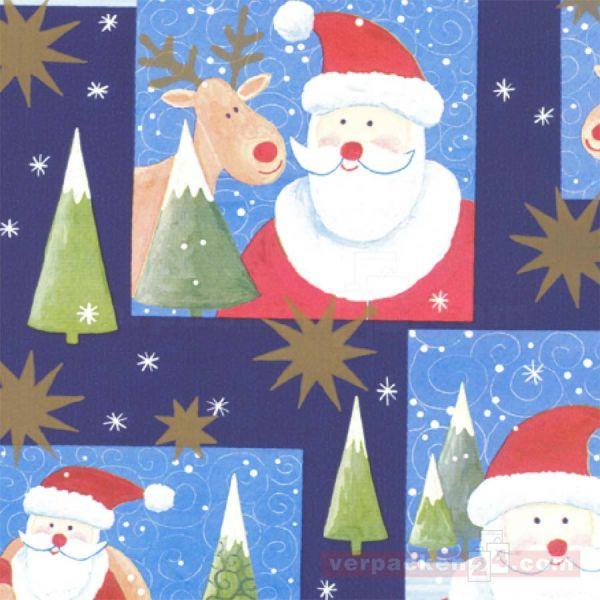 Weihnachts Geschenkpapier W 49627, Rolle 50 cm - Rentier Triberg