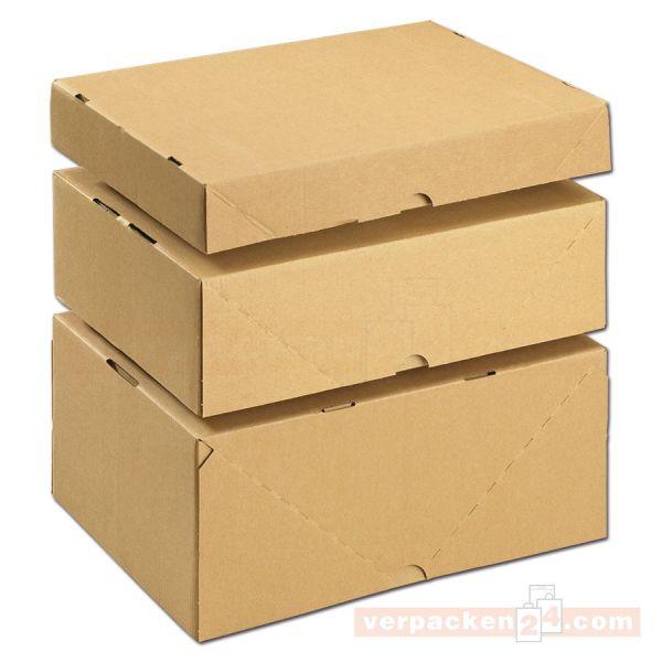 Stülpdeckelkarton DIN A4, Wellpappe braun