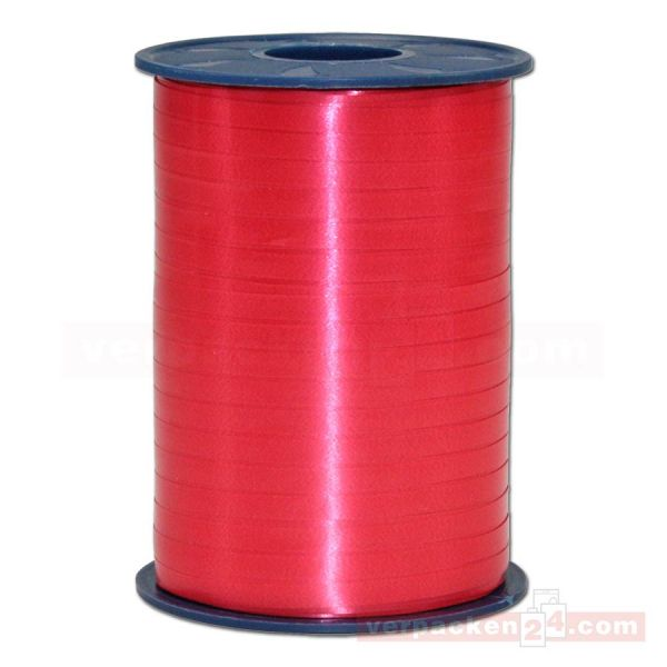 Glanzband auf Rolle 500 mtr., 5 mm - rot (609)