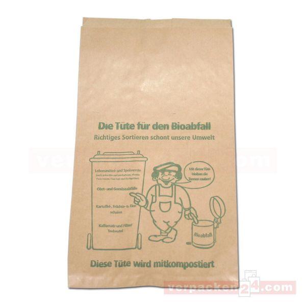 Biofaltenbeutel aus Recyclingpapier 70 g/m² - (VE: 500)