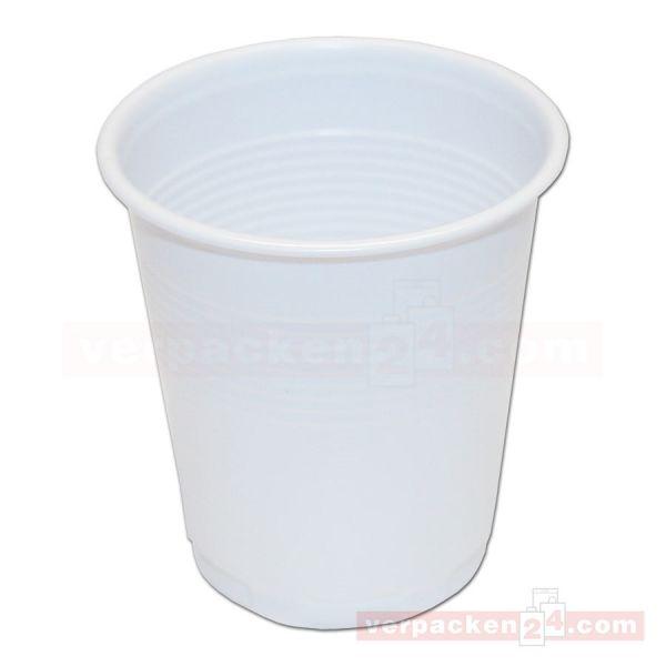Kostprobenbecher aus Polystyrol, weiß - 100 ccm
