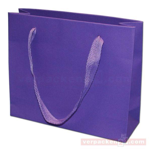 Papiertragetasche Regensburg NATUR - violett