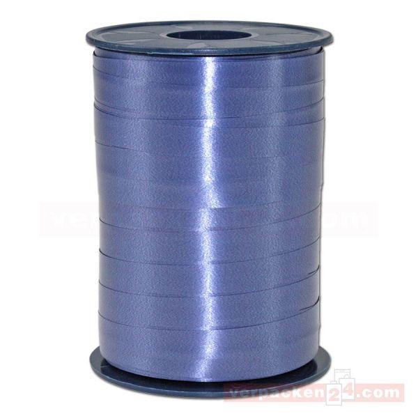 Glanzband auf Rolle 250 mtr., 9 mm - jeansblau (724)
