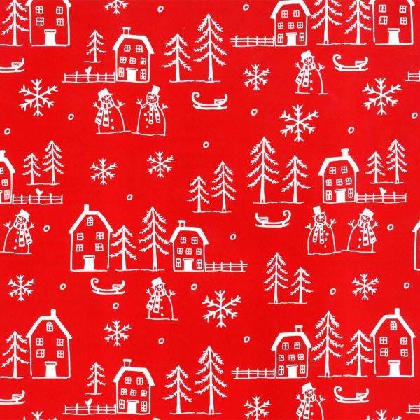 Weihnachts Geschenkpapier St 36166, Kurzrolle 50 cm - Island rot