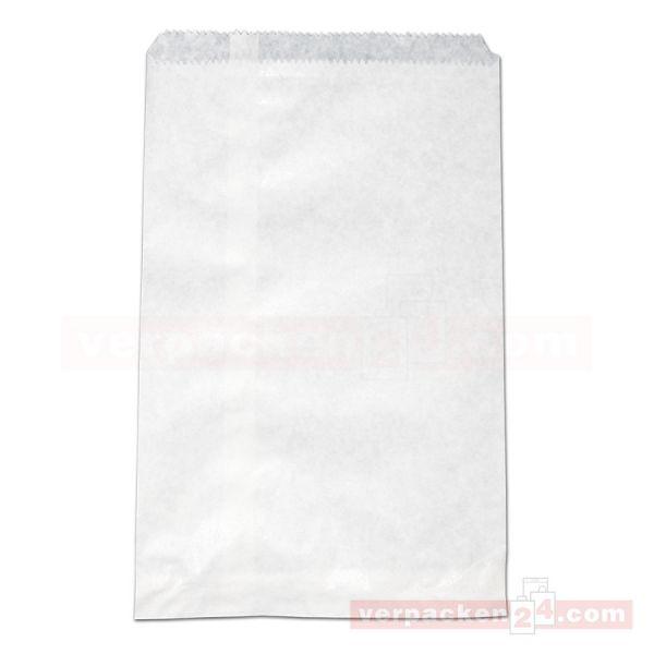 Flachbeutel aus Papier - weiß gebleicht Kraft | verpacken24.com ...