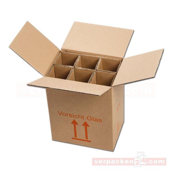 Flaschenversandkarton, 6 Flaschen - Versandverpackung PTZ