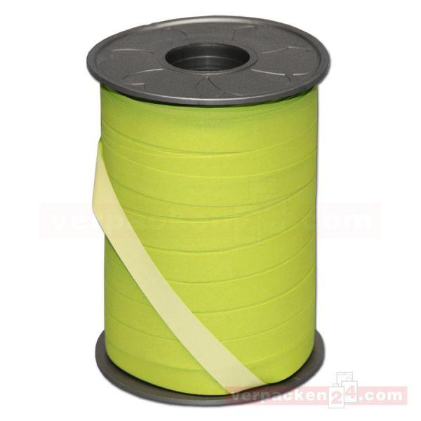 Geschenkband auf Rolle - BICOLOUR 200 mtr., 10 mm - hgrün/grün