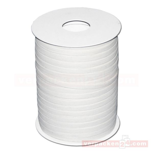 Baumwoll-Ringelband 5 mm, Rolle 200 mtr - weiß (02)