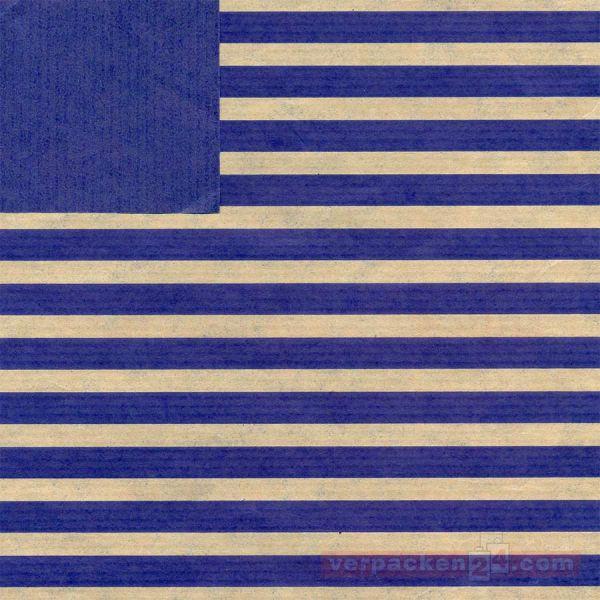 Geschenkpapier, neutral B 11201, Rolle 70 cm - Streifen blau