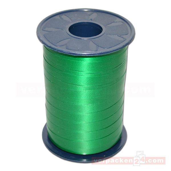 Glanzband - Lucky - lackiert Rolle 250m, 10 mm - grün (607)