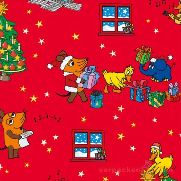 Weihnachts Geschenkpapier St 913244, Rolle 50 cm - Sendung Maus