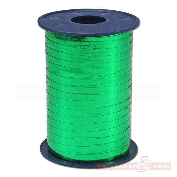 Glanzband metallisiert - 5 mm - Rolle 400 m - grün (607)