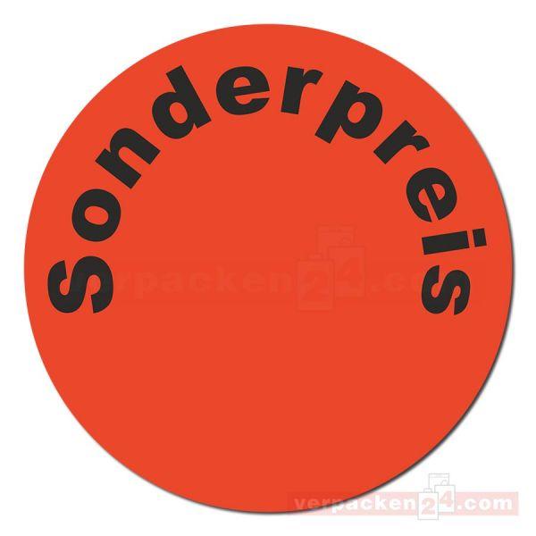 SKL-Etiketten, rotes Papier - Sonderpreis - schwarz - 25 mm