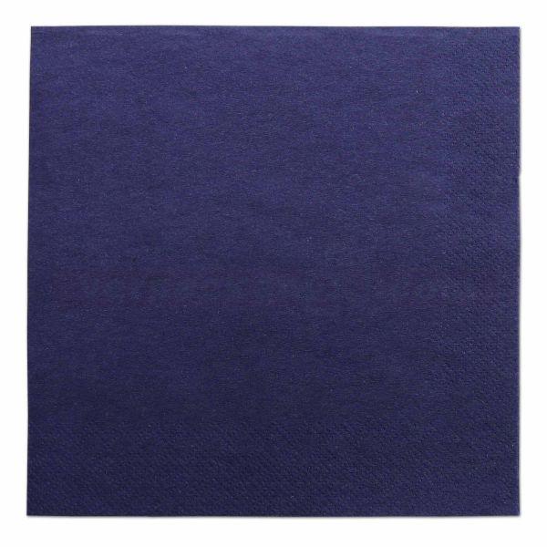Tissue-Servietten farbig, 3-lagig, 33x33cm - 1/4 Falz - dunkelblau