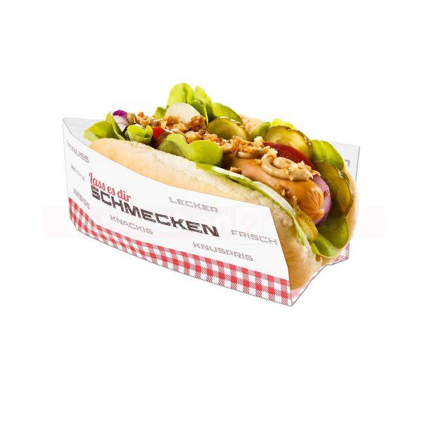 Snackbeutel - Hot Dog-Beutel, Pergament Ersatz Seite offen