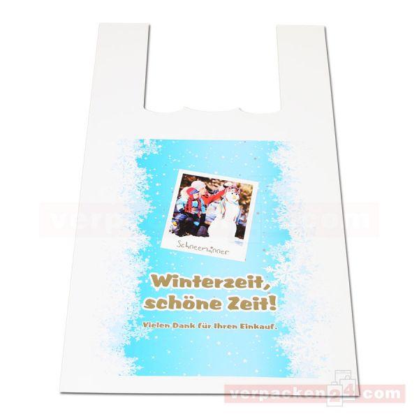 COEX-Hemdchentaschen, weiß - Winterzeit 2012- 27+14x42cm