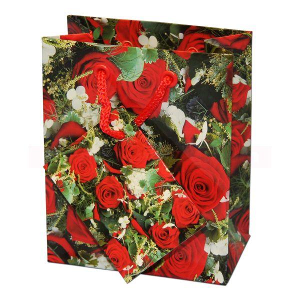 Papiertragetasche Regensburg DESIGN - Rote Rosen