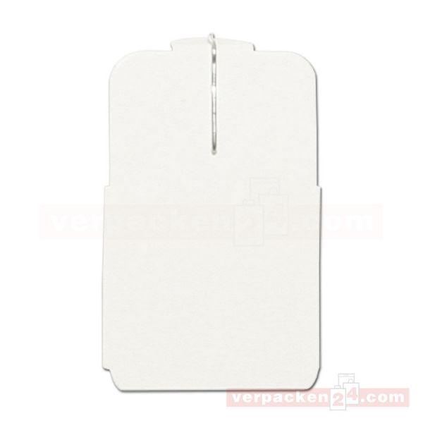 Stechetiketten, weiß, rechteckig - unbedruckt - 24x36 mm