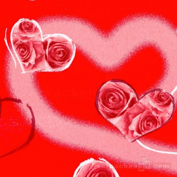 Blumenseiden, weiß Recycling - My Heart rot - Rolle - 75 cm