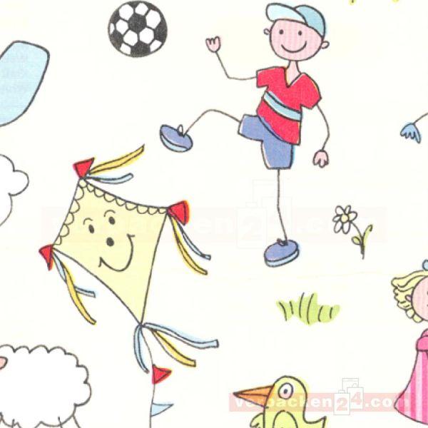 Geschenkpapier Kinder, neutral St 914070, Rolle 50 cm, Wiese