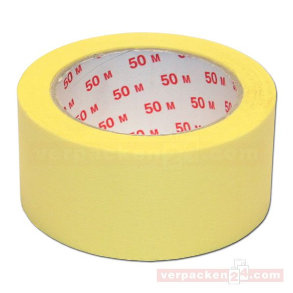 Kreppband flach - beige, Rolle 50 m - Abdeckband (Malerkrepp)