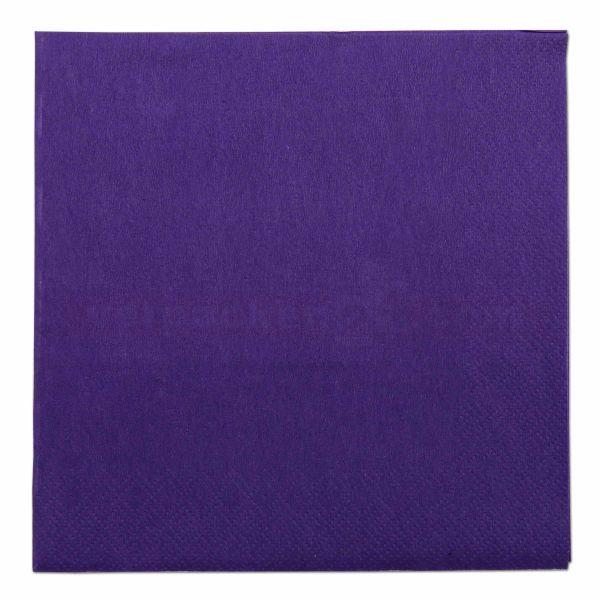 Tissue-Servietten farbig, 3-lagig, 33x33cm - 1/4 Falz - violett
