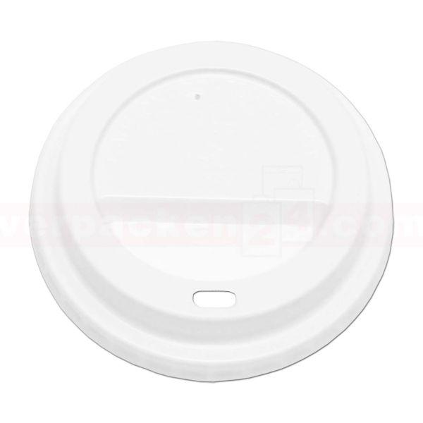 Deckel weiß Hartpapierbecher - Ø 80mm - für Becher 200ccm